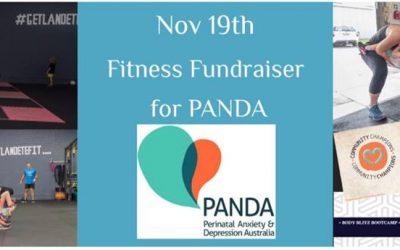 Fitness Fundraiser for PANDA – Sunday 19th November at Landete Health Erina